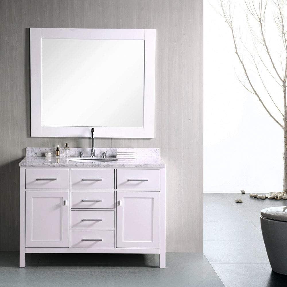 Design Element Dec076c W 48 Inch Single Bathroom Vanity Set In White