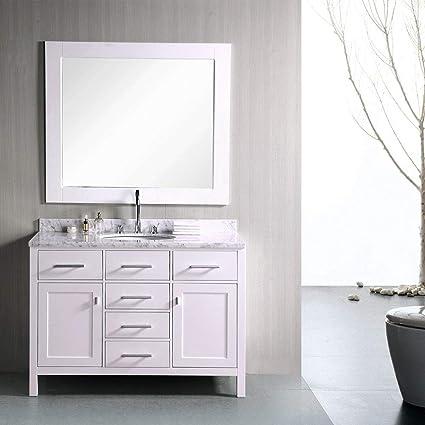 Superbe Design Element DEC076C W 48 Inch Single Bathroom Vanity Set In White,      Amazon.com