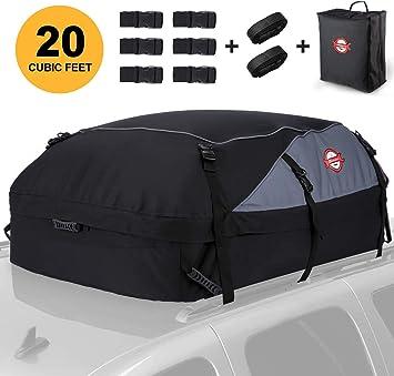 Dachbox 580l Faltbare Auto Dachkoffer Gepäckbox Wasserdicht Tragbar Dachboxen Dachgepäckträger Tasche Für Reisen Und Gepäcktransport 20 Kubikfuß Schwarz Auto
