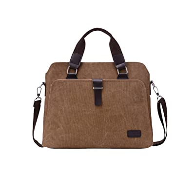 Vbiger Men Handbag Canvas Laptop Shoulder Bag Casual Travel Cross-body Bags Classic Outdoor Messenger Bag