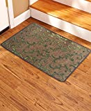 Soloom Non Slip Stair Treads Carpet Landing Mat(2'x3')Blended Jacquard Indoor Skid Resistant Stair Tread Rugs Landing Mat Rubber Backing,Brown