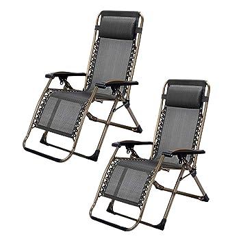 Juego de 2 sillones de Patio Gravity Lounge para Personas ...
