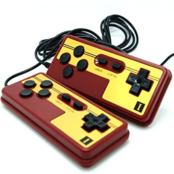 Generic Special Chinese Red NES Game Controller Pads 9 Pin