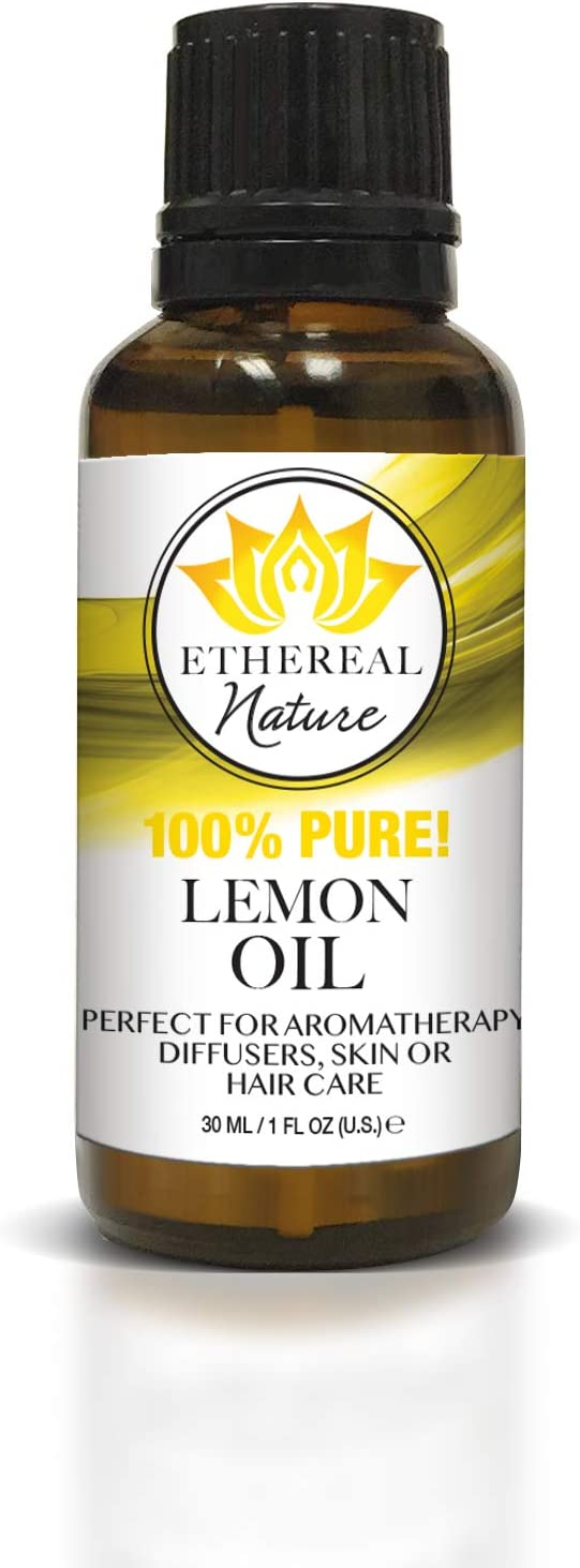 Ethereal Nature 100% Pure Oil, Lemon, 1.01 Fluid Ounce