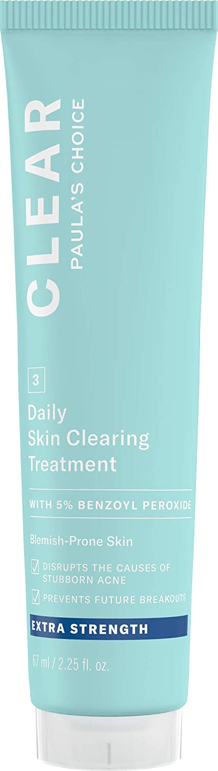 Paula's Choice CLEAR Extra Strength Skin Clearing Treatment | 5% Benzoyl Peroxide for Severe Facial Acne | Redness Relief | 2.25 Ounce