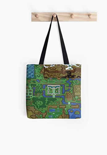 Link To The Past Light World Map.Amazon Com Link To The Past Light World Map Tote Bag Handmade