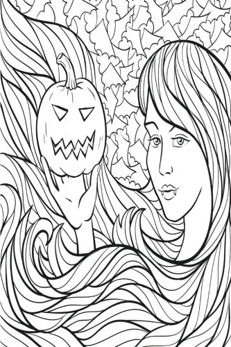 Color My Cover Halloween Journal - Vampire Lady: 100 page 6
