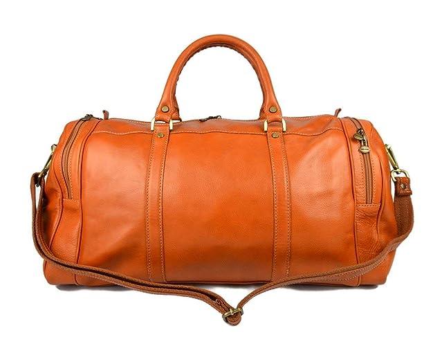 436089d87 Bolso de viaje deportiva mujer bolsa de hombre con asas y correa de piel  genuina bolso
