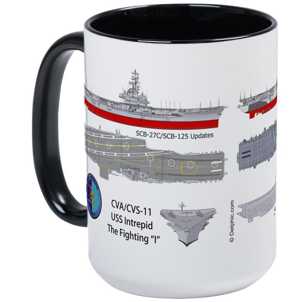 Amazon.com: CafePress - USS Intrepid CV-11 CVA-11 CVS-11 - Coffee ...