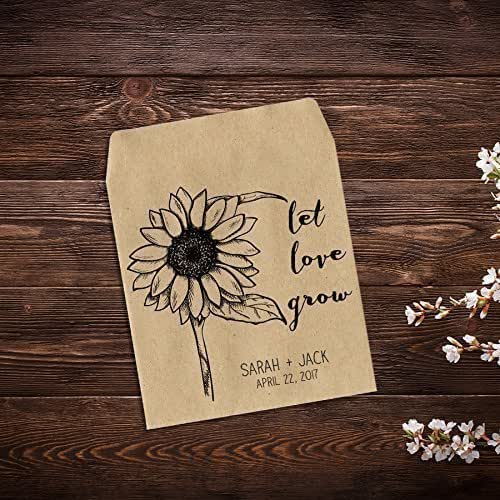 Flower Seed Wedding Favours: Amazon.com: Personalized Wedding Favor Wildflower Seed