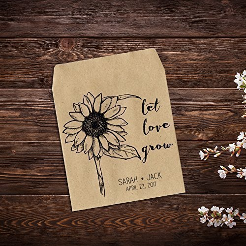 Personalized Wedding Favor Wildflower Seed Packets, Seed Packet Favor, Custom Seed Packets, Seed Packets, Sunflower Favor, Wedding Favors, Rustic Wedding Favor x ()