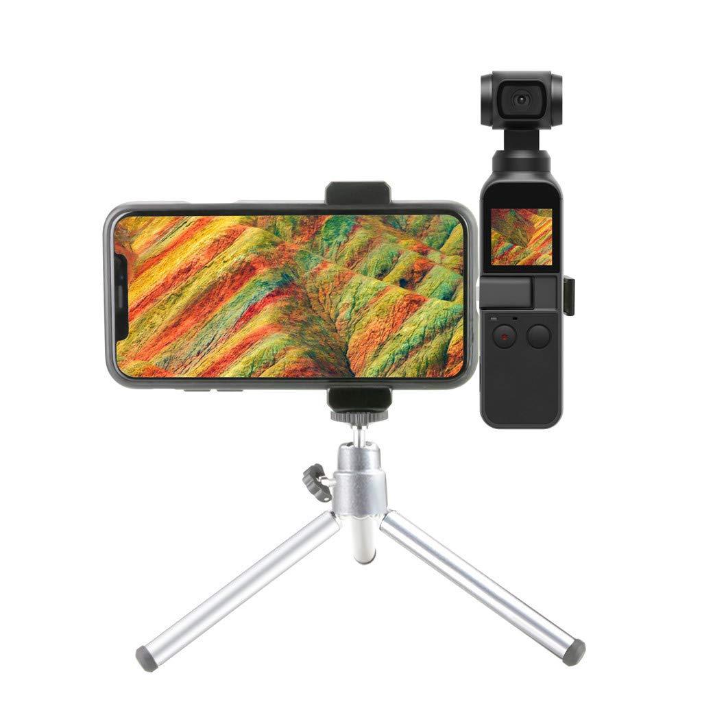 HiGOGO 携帯電話ホルダー マウント&三脚キット 多機能互換 DJI OSMO ポケット 手持ちカメラ ジンバル   B07MQNL479