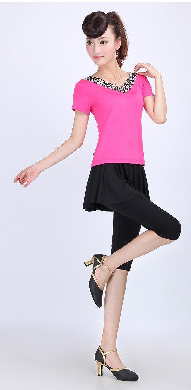 AvaCostume Womens Yoga Workout Dance Outfit Capri Pantskirt