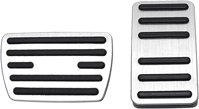 CDEFG Car Foot Pedal Cover Brake and Accelerator Pedal Cap Footrest Pads for 2018 2019 2020 Accord Civic Hatchback CR-V CRV Fit Black Set of 2 Auto Aluminum Alloy Cap Non-Slip
