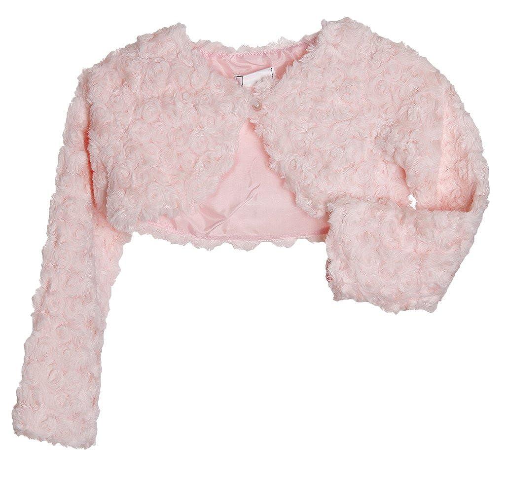 Dorissa Tufted Plush Pink Bolero Size 4T