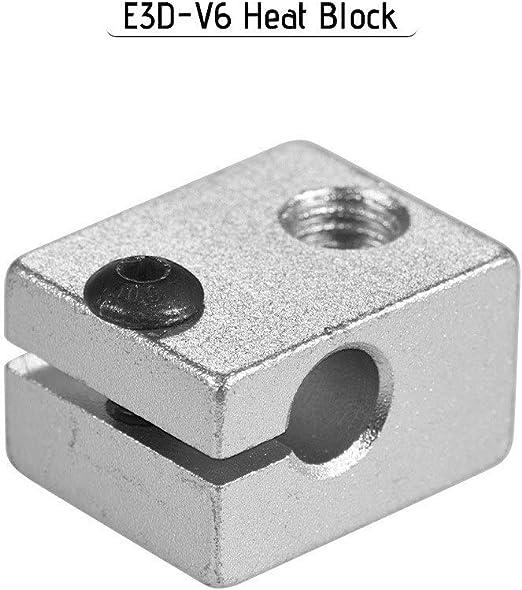 IJeilo 3D Impresora Accesorio, Bloque de Calor de Aluminio V6 V6 ...