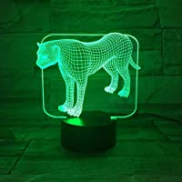 LXXYD 3D Visual Light Optical Illusion Led Night Light - Animal Leopard 7 Color Change 3D Table Lamp Bedroom Sleep Light Home Decoration Art Decoration Friend Gift 5