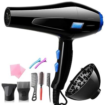 Nclon 3000w Casa Secador de pelo ,Poderoso Profesional Aire frio Boquillas concentradoras Difusor de-