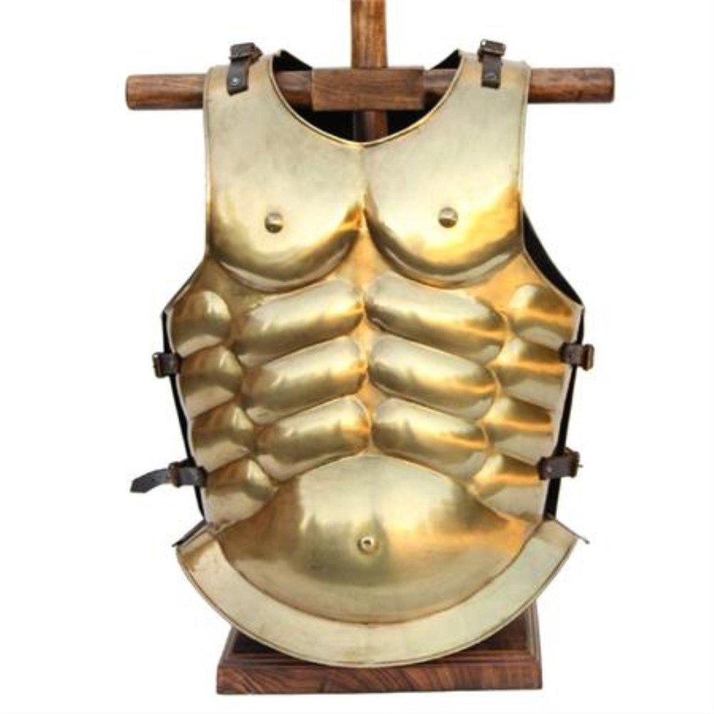 Authentic Reproduction Laels Roman Gladiatorial Arena Brass Cuirass