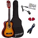 JMFinger Beginner Classical Guitar 30 Inch Kids Nylon Strings Guitar with Gig Bag, Strap, Picks, 3 in 1 Metronome & Tuner, Su