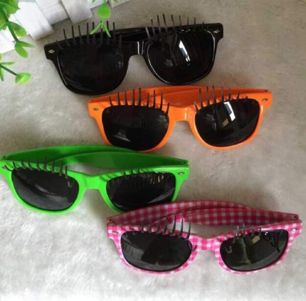 7bbaf939732 Amazon.com: False Eyelashes Funny Shape Glasses Novelty Sunglasses Funny  Eyeglasses Party Glass Costume Party Accessories - Green: Toys & Games