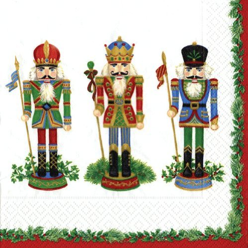 3-ply Tigers on The Loose 4 Paper Napkins for Decoupage 33 x 33cm 4 Individual Napkins for Craft and Napkin Art. Nutcracker Suite
