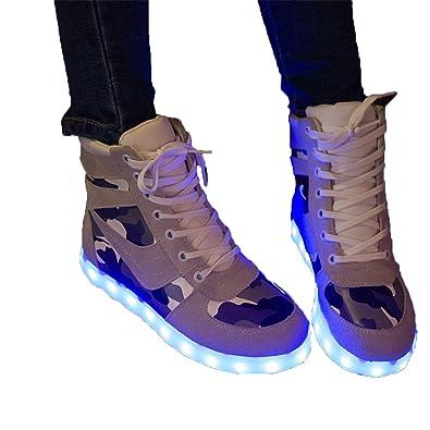 new arrivals 3d43a d985d Unisex Kinder Turnschuhe Licht LED Sneaker Blinkt Damen ...