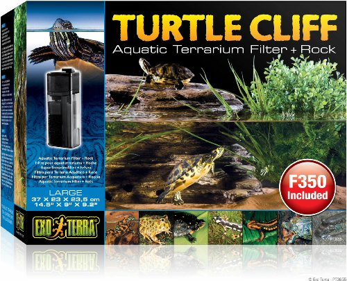 Exo Terra Turtle Cliff Aquatic Terrarium Filter/Rock, Large by Exo Terra