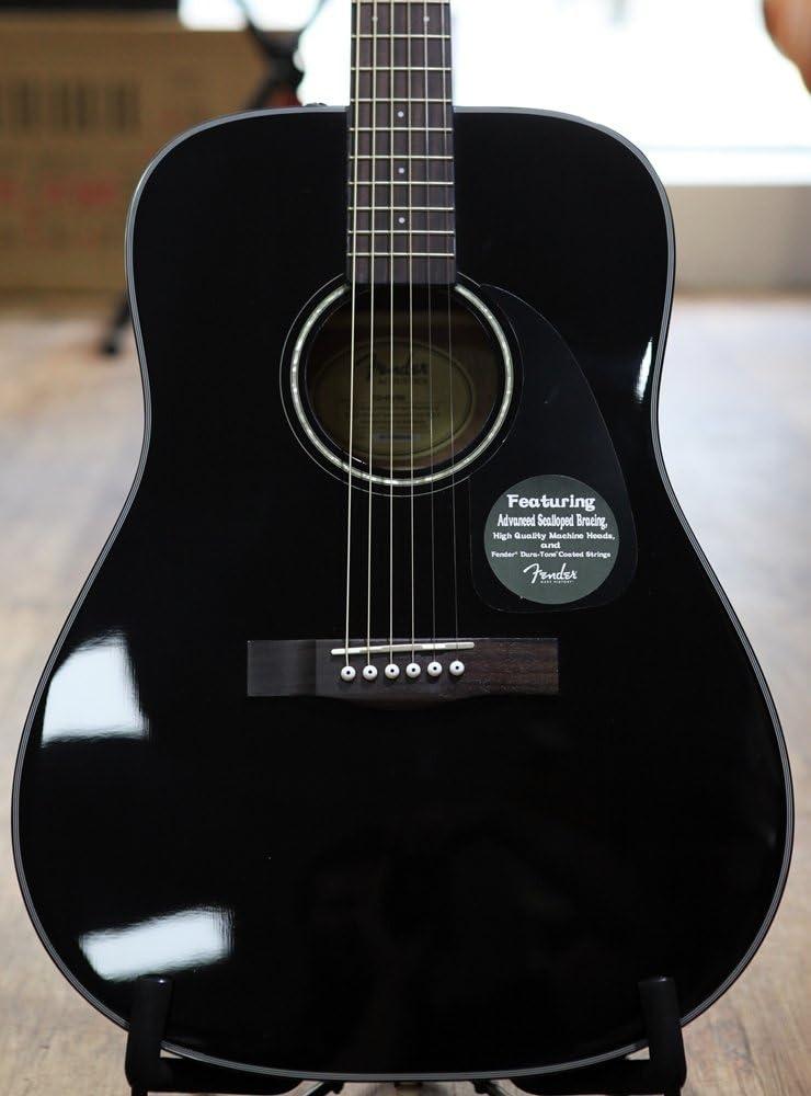 Fender CD-60 BK Pack Guitarra Acœstica: Amazon.es: Instrumentos musicales