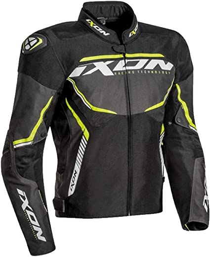 Taille L Ixon Blouson Moto Homme Sprinter Sport Taille Noir gris jaune