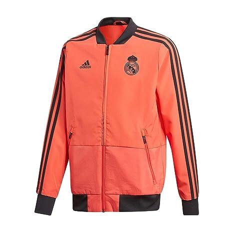 Adidas Real EU Pre Jky Chaqueta, Unisex niños, (Correa/Negro),