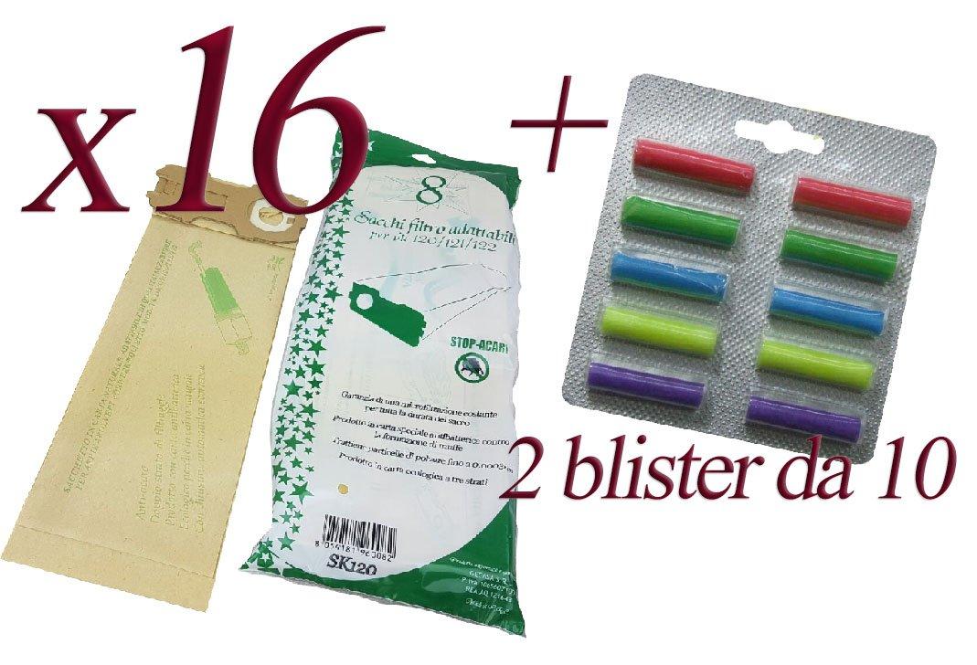Bolsas de papel natural + Ambientadores para aspiradora Kobold ...