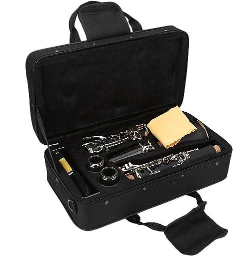 Clarinete de 17 llaves, en Si bemol, baquelita, con paño de limpieza: Amazon.es: Deportes y aire libre