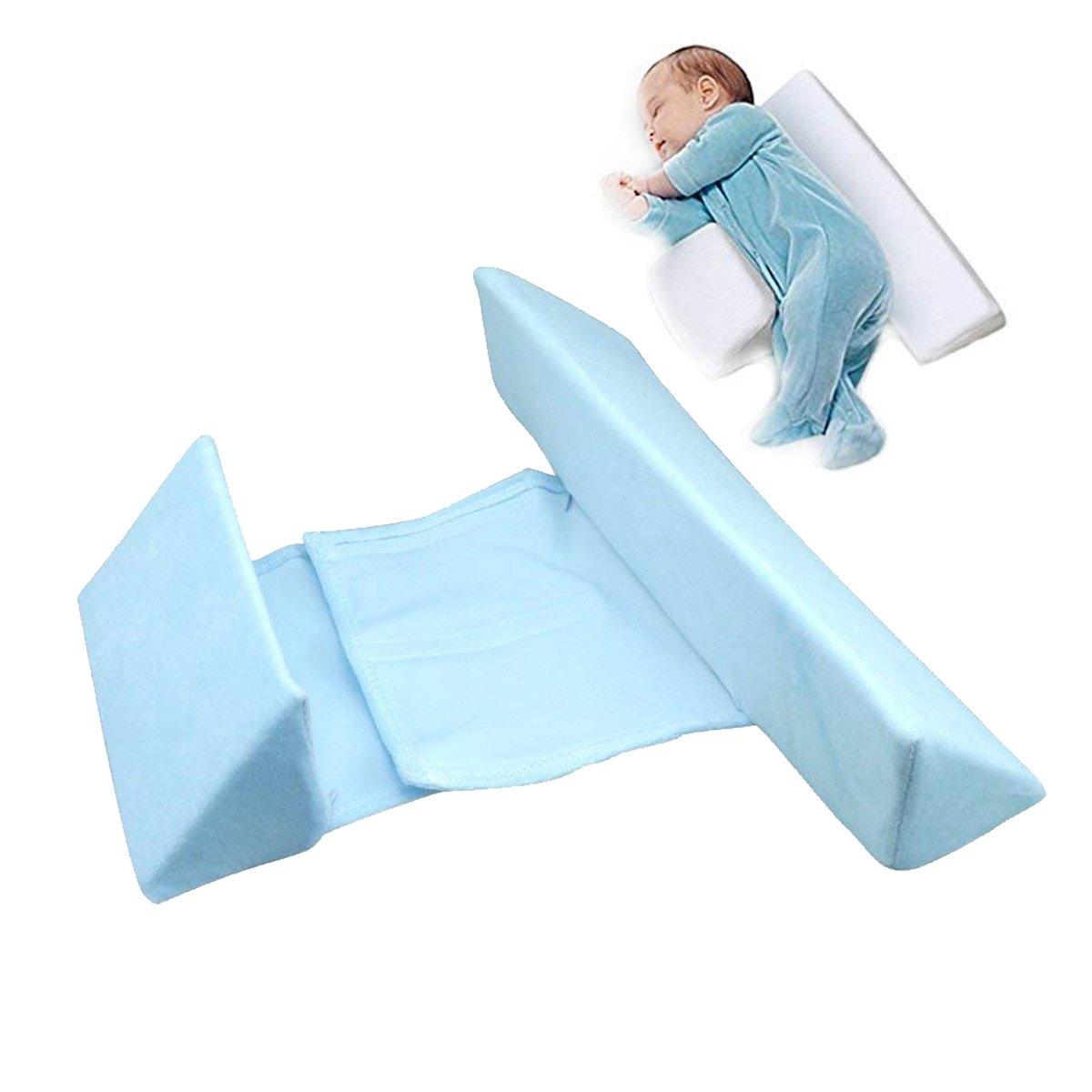URIJK Coussin de Sommeil Latéral pour Nouveau-Né Calé-bébé Sommeil Oreiller Réglable Coussin Bébé Velours Sain et Respirant