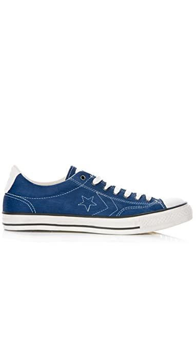 Converse Unisex John Varvatos Star Player OX Leather Shoes Navy 142970C 08efd8a40