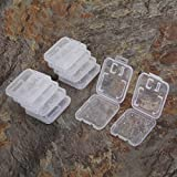 AKOAK 10pc Collection Clear Plastic Memory Card