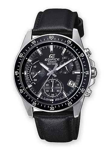 603e83385bfa Casio Reloj Cronógrafo para Hombre de Cuarzo con Correa en Cuero EFV-540L-1AVUEF   Amazon.es  Relojes