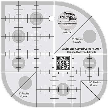 Creative Grids Curved Corner Cutter Quilting Ruler Template