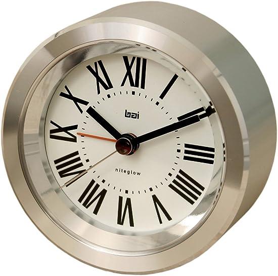 BAI Astor Aluminum Travel Alarm Clock, Roman