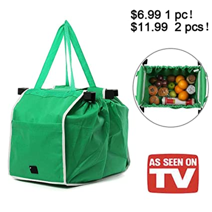 ae494feed08 Image Unavailable. Image not available for. Color  HOMEJU Insulated Reusable  Grab Bag Grocery Shopping Tote ...