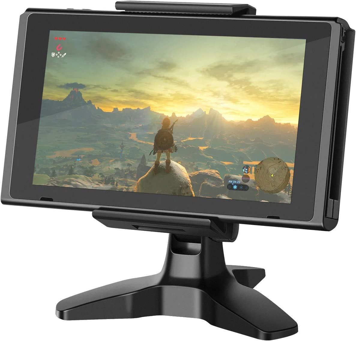 Stable Stand for Nintendo Switch, 360-Degree Adjustable Tablet Strong-Clamp Playstand, Heavy-Duty Base Desk Cell Phone Holder, Compatible with iPad iPhone Samsung Kindle Fire E-Reader by APPS2Car