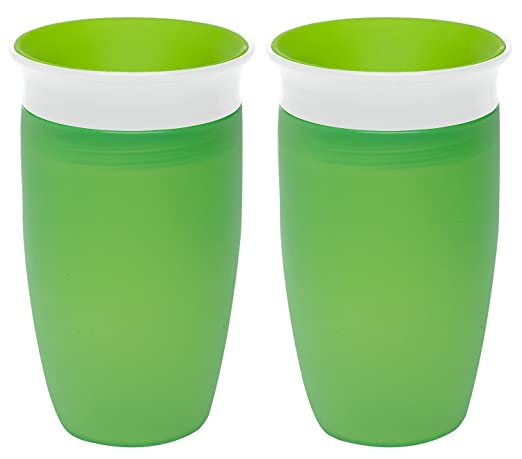 Munchkin Miracle 360 Sippy Cup, Green, 10 Ounce, 2 Count