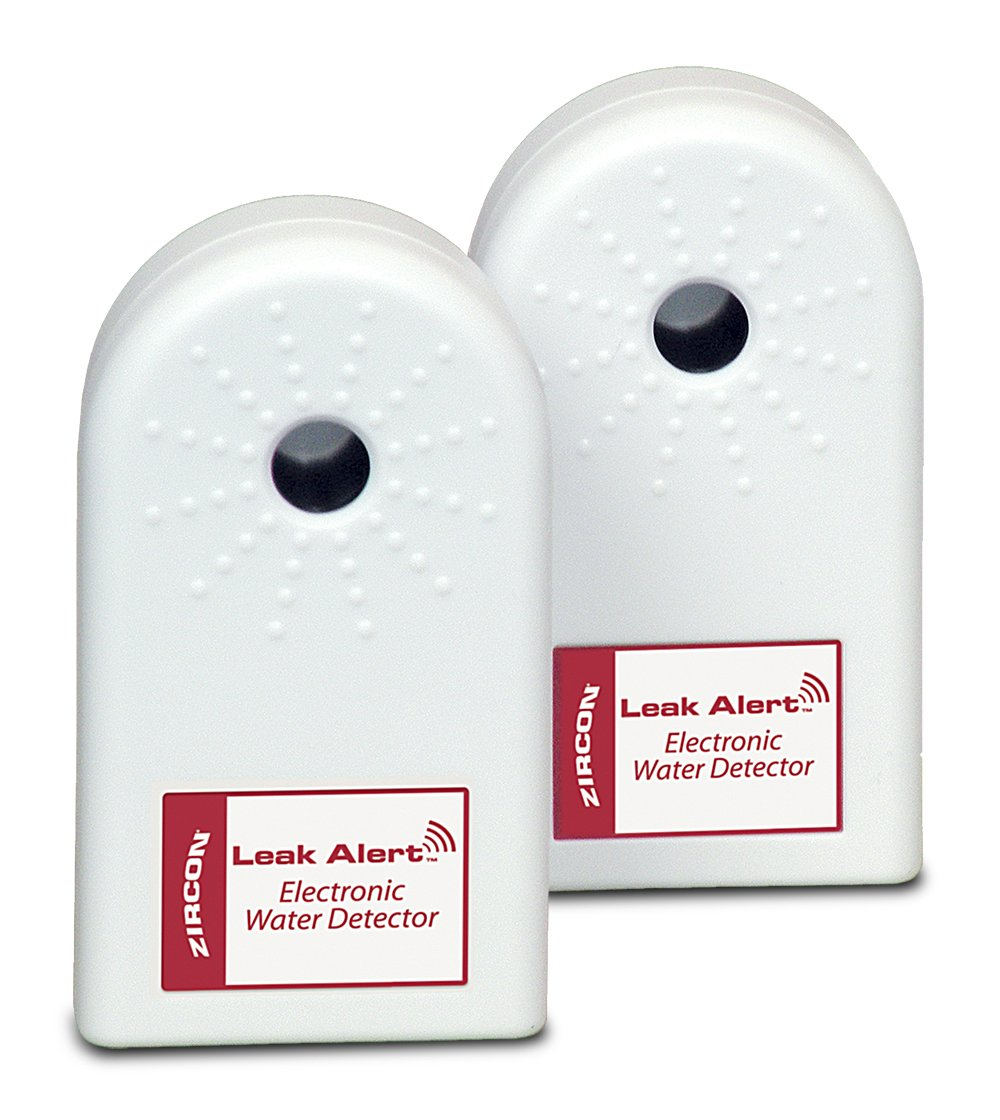 Zircon Leak Alert Electronic Water Detectors Bonus Pack, Batteries Not Included, 2-Pack