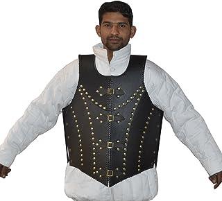 NASIR ALI Meilleure Qualité médiéval Cuir Noir Dragon Warrior Armour Veste Costume Zelda