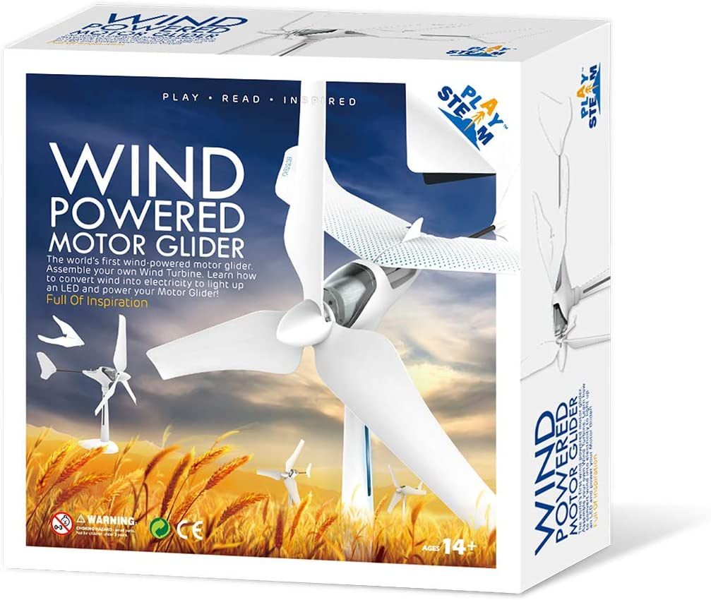 PLAYSTEAM Wind Turbine Powered Motor Glider Learning Set