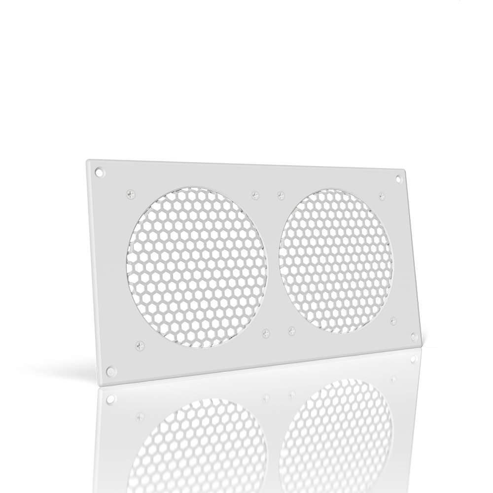 AC Infinity White Ventilation Grille 12'', for PC Computer AV Electronic Cabinets, replacement grille for AIRPLATE S7/T7 by AC Infinity