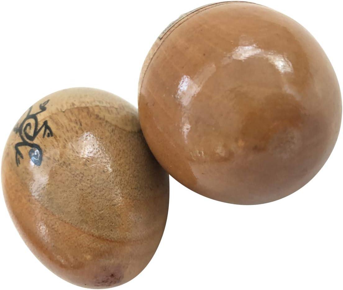 Painted Rasta Natural Finish Wood Egg Shaker Pair 2pcs by World Percussion USA