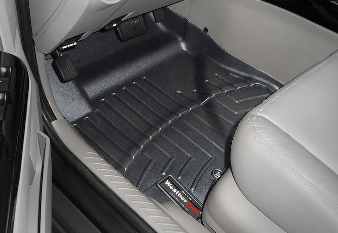 Tan 450452 WeatherTech Custom Fit Rear FloorLiner for Porsche Cayenne