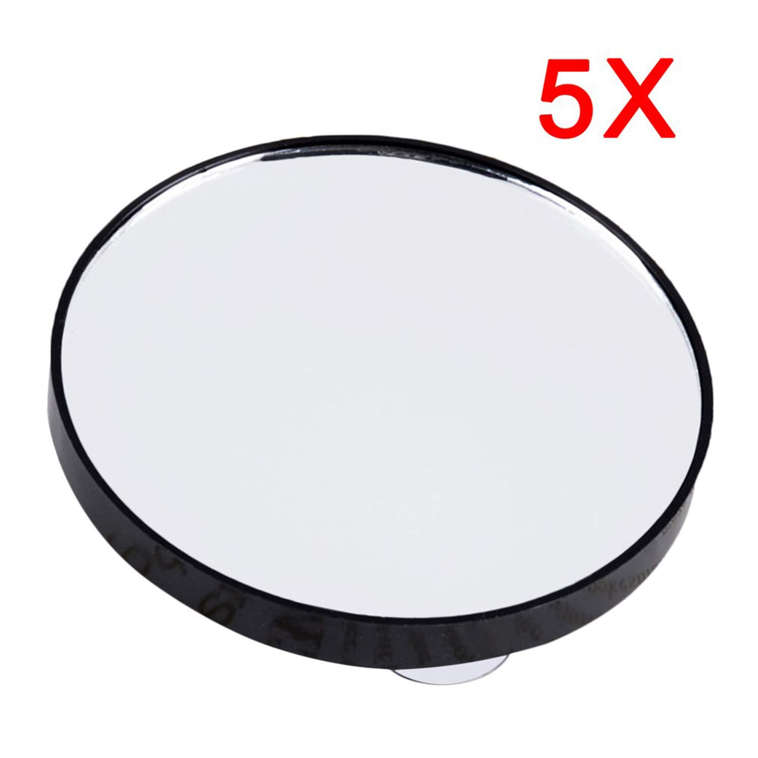 Foreverharbor Vanity Makeup Mirror 5X 10X 15X Magnifying Mirror with Two Suction Cups Cosmetics Tools Mini Round Mirror Bathroom Mirror