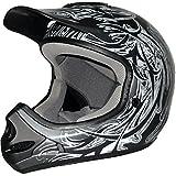 Adult's Raider MX-3 Black/ Silver Thermosplastic Helmet Large